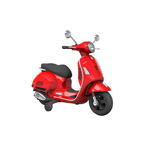 scooter électrique rouge 6V de taille 102x50x75.5 cm à partir de 3ans - 30kg max