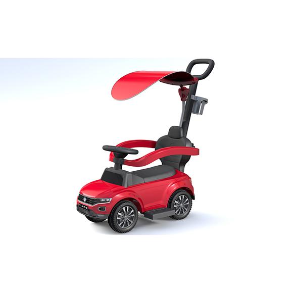 Trotteur volkswagen T-ROC rouge avec pare soleil - 12 36 mois