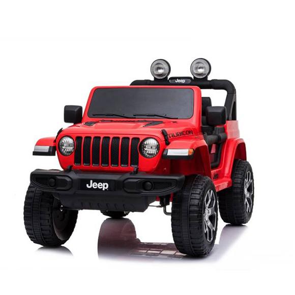 Jeep Rubicon porteur lumineux 12V roues motrices à partir de 3 ans
