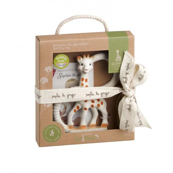 Anneau de dentition So'pure Sophie la girafe très souple