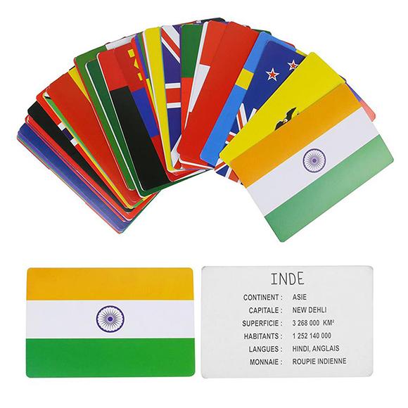 Cartes éducatives  les drapeaux