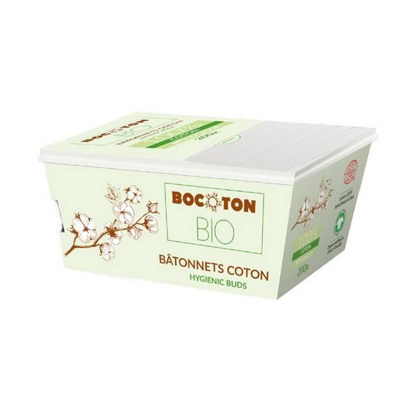 200 Bâtonnets Coton Bio BOCOTON