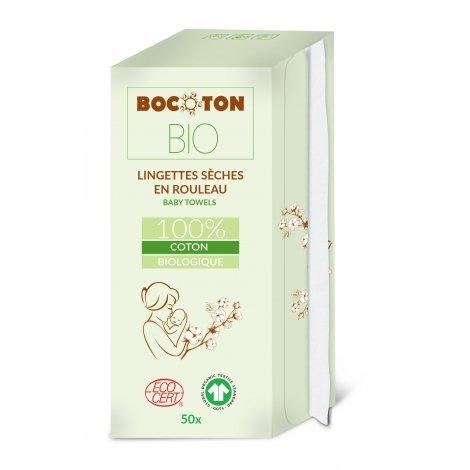 Sachet de 60 Lingettes cosmétiques sèches Coton Bio