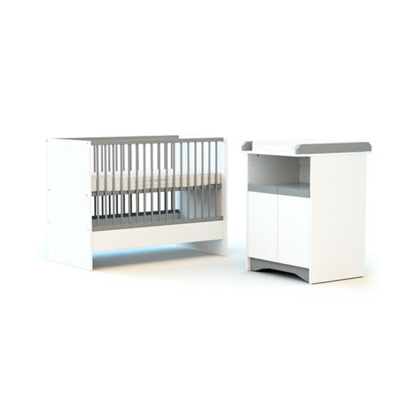 Chambre evolutive COTILLON Blanc et gris ATELIER T4