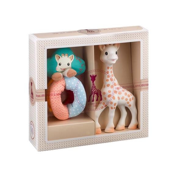 Création classique - composition 2 (Sophie la girafe + Hochet billes Sense & Soft)