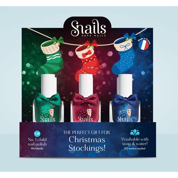 Lot de 3 vernis collection Festive spécial Noël et une planche de stickers flamands offerte