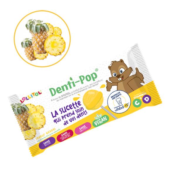 Sucette sans sucre saveur Ananas