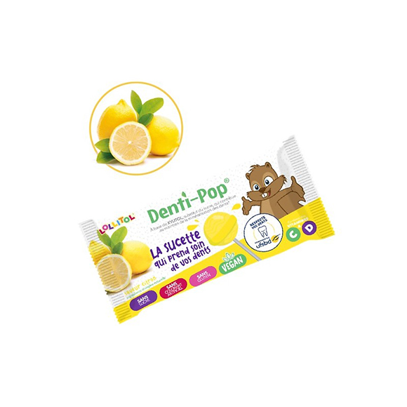 Sucette sans sucre saveur Citron  Lollitol