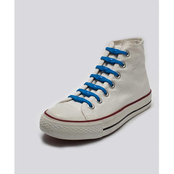 Lacets silicone Shoeps bleu ciel