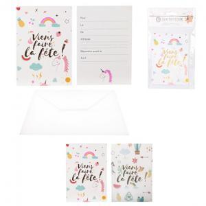 carte invitation  x6
