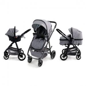 Poussette duo Convertible Two+ grise