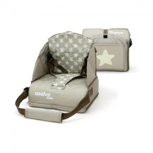 Rehausseur souple de chaise motif stars beige