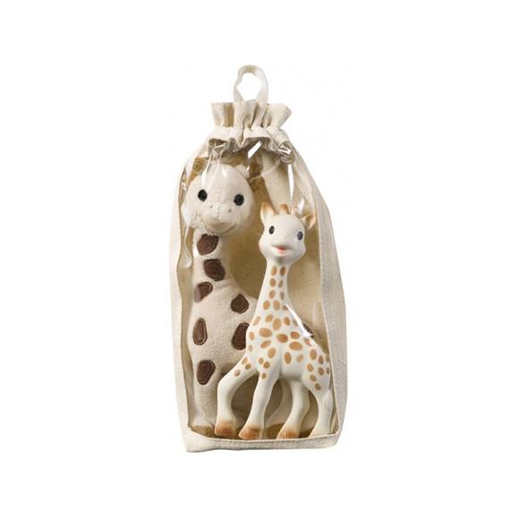 Set girafe peluche 26cm + sophie la girafe SOPHIE LA GIRAFE